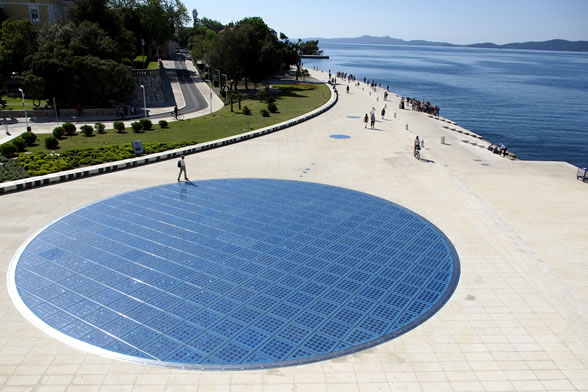 Greetings to the sun is the work of the award winning zadar architect